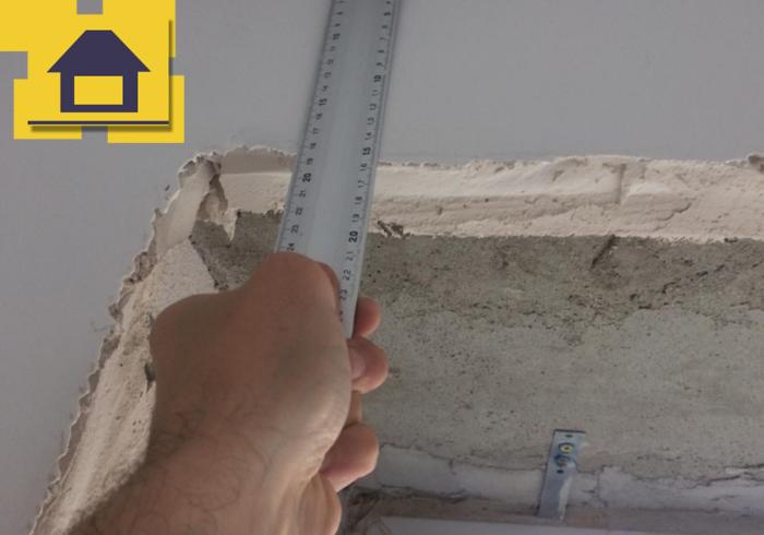 Приёмка квартиры в ЖК Маршал: Смещение оси перегородки в кухне более 30 мм.