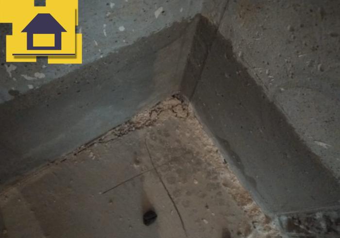 Приёмка квартиры в ЖК Краски Лета: Разрушение стяжки пола