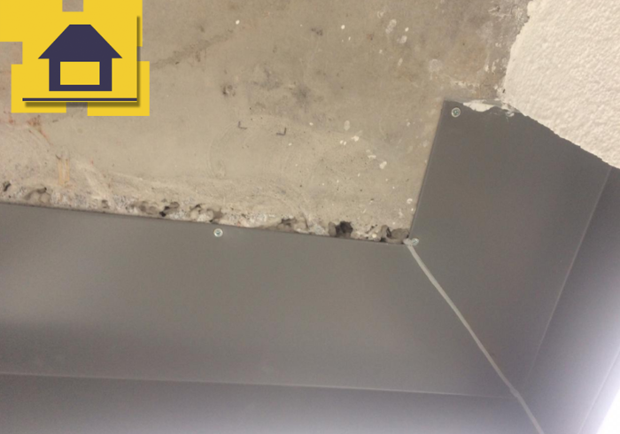 Приёмка квартиры в ЖК Краски Лета: Раковины на потолке