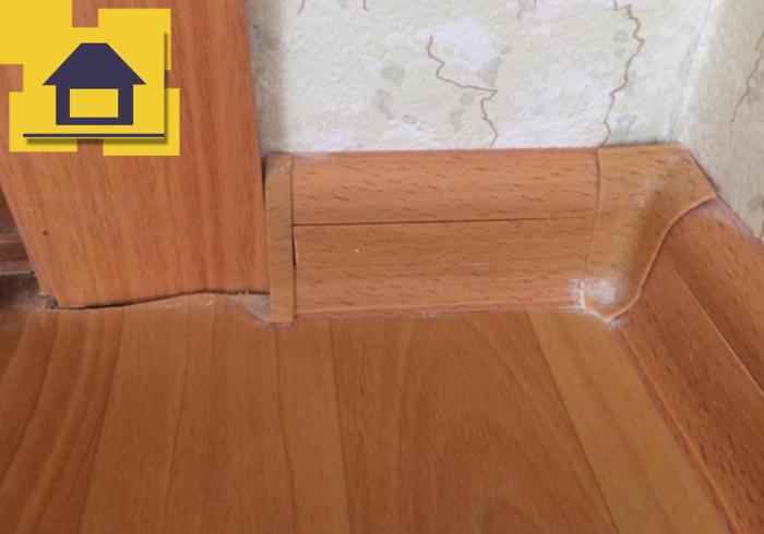 Приёмка квартиры в ЖК Северная Долина: Коротко подрезан линолеум
