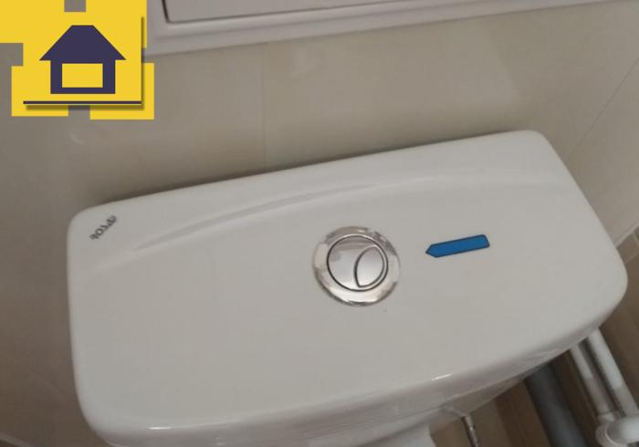 Приёмка квартиры в ЖК Палацио: Кнопка сливного бочка повреждена