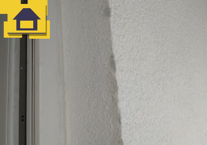 Приёмка квартиры в ЖК Краски Лета: Повреждение фасадной стены
