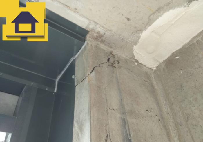 Приёмка квартиры в ЖК Галактика: Трещина по монолитной конструкции
