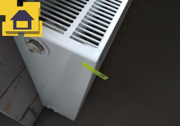 Приёмка квартиры в ЖК Галактика: Скол на радиаторе