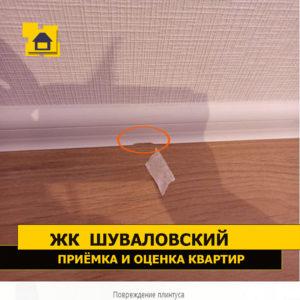 Приёмка квартиры в ЖК Шуваловский: Повреждение плинтуса