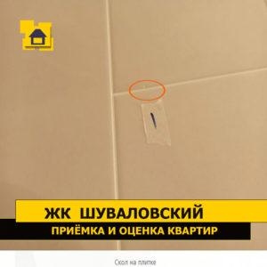 Приёмка квартиры в ЖК Шуваловский: Скол на плитке