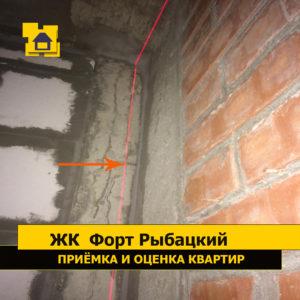 Приёмка квартиры в ЖК Форт Рыбацкий: Обнажение арматуры перемычки