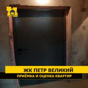Приёмка квартиры в ЖК Петр Великий и Екатерина Великая: У двери верхний откос  отклонение  3 см