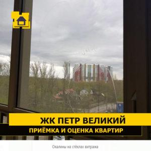 Приёмка квартиры в ЖК Петр Великий и Екатерина Великая: Окалины на стёклах витража