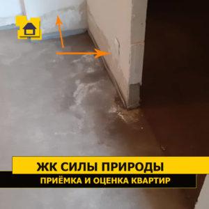 Приёмка квартиры в ЖК Силы природы: Протечка  стены мокрые