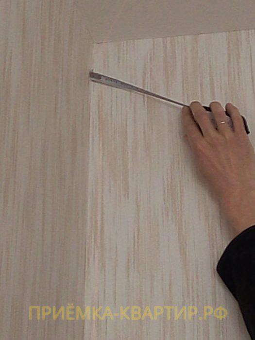 Приёмка квартиры в ЖК Колпино: отклонение по вертикали 25 мм