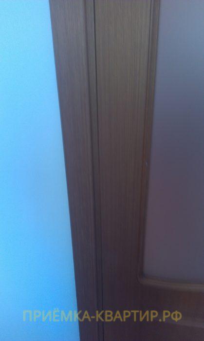 Приёмка квартиры в ЖК Синема: неправильная установка межкомнатной двери