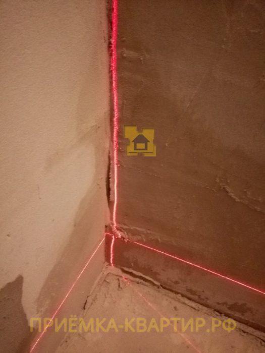 Приёмка квартиры в ЖК Новое Янино: кривизна стен 30 мм