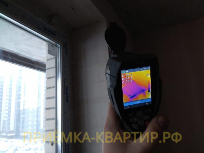 Приёмка квартиры в ЖК Приневский: инфильтрация холодного воздуха через примыкание откосов