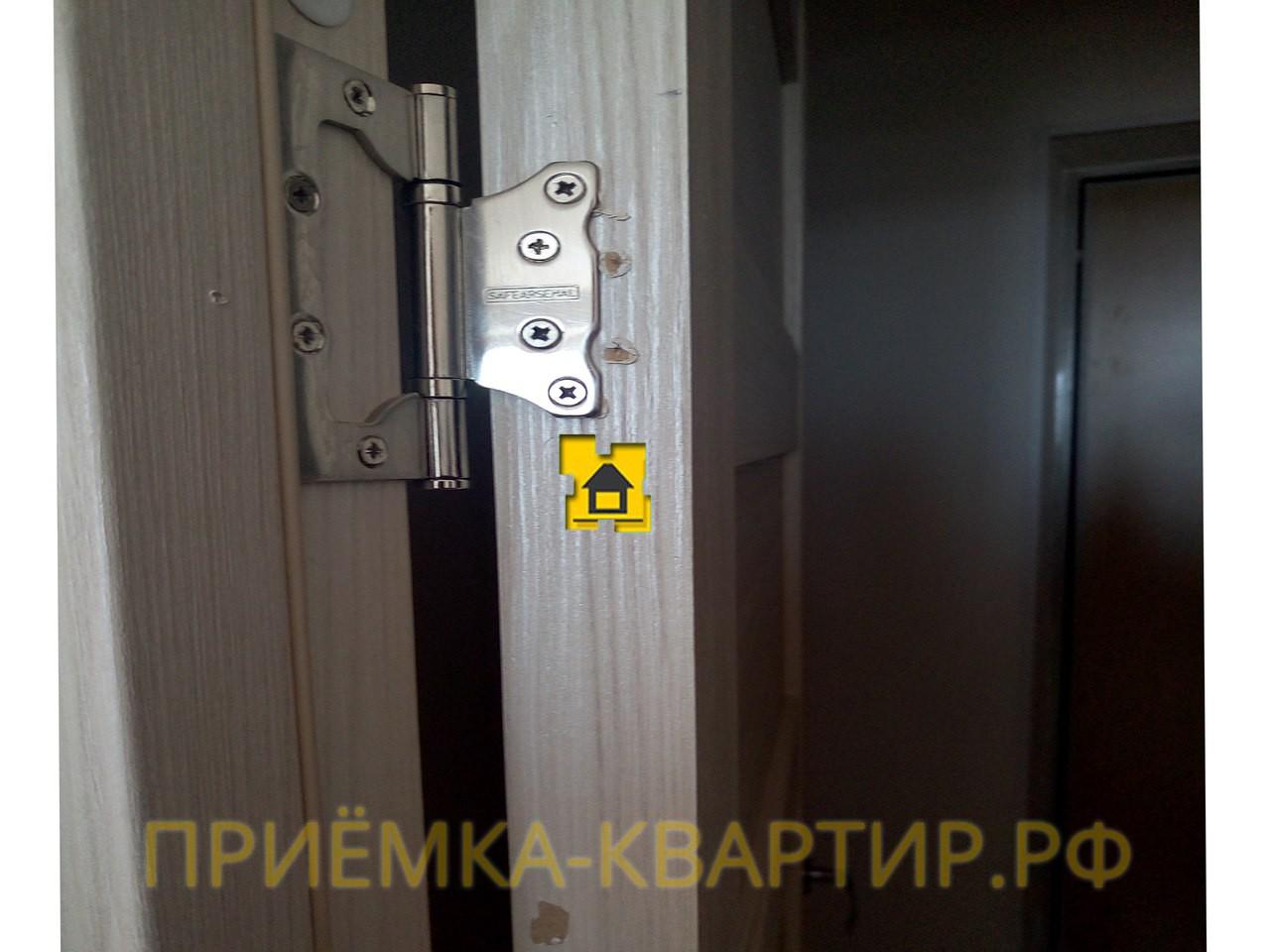 Приёмка квартиры в ЖК Новое Мурино: Неправильный монтаж дверных петель