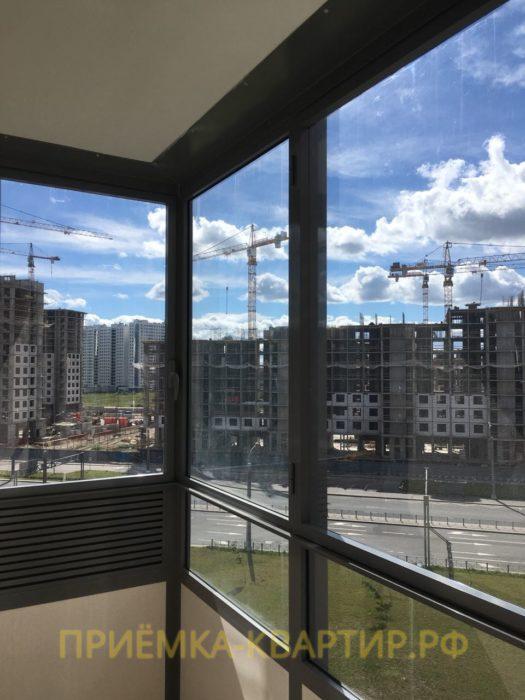 Приёмка квартиры в ЖК Южная Акватория: Отсутствует уплотнитель на створке