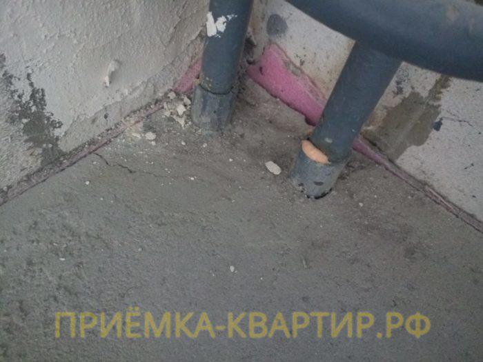 Приёмка квартиры в ЖК Елагин Апарт: Трещина на стяжке