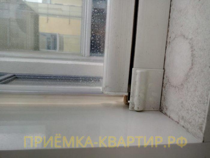 Приёмка квартиры в ЖК Мироздание: Подтекание воды по витражу