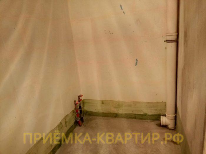 Приёмка квартиры в ЖК Мироздание: Течь из фановой трубы