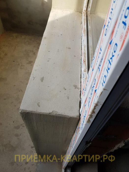 Приёмка квартиры в ЖК Форвард: Отходит утеплитель от общей плоскости стены
