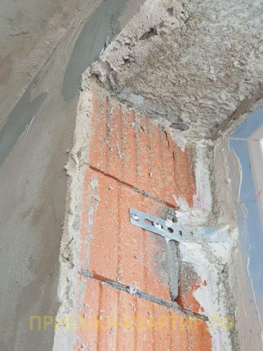 Приёмка квартиры в ЖК Форвард: Усадочные трещины на откосах