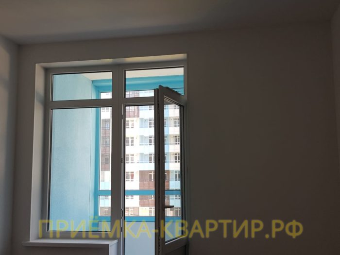 Приёмка квартиры в ЖК Чистое Небо: Не закреплена балконная ручка