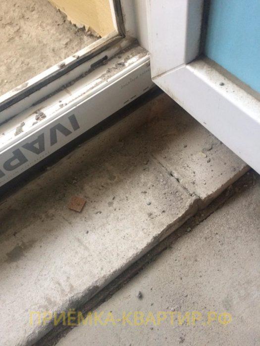 Приёмка квартиры в ЖК Алфавит: Инфильтрация воздуха сквозь щель в балконном пороге
