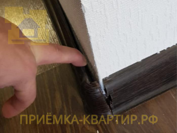 Приёмка квартиры в ЖК Солнечный Город: В комнате не закреплён плинтус