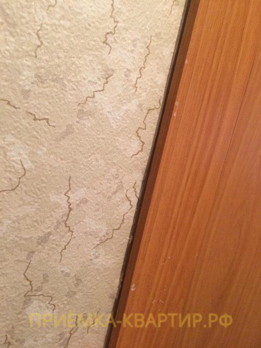 Приёмка квартиры в ЖК Северная Долина: Щель между наличником и стеной