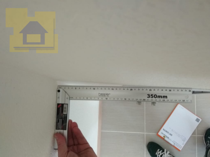 Приёмка квартиры в ЖК YOUПитер: Короб на кухне, нет угла + отклонение по вертикали 20 мм