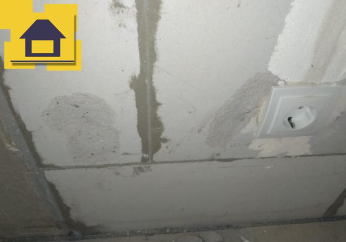 Приёмка квартиры в ЖК : Сколы по газоблоку