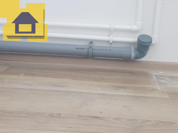 Приёмка квартиры в ЖК : В кухне фановая труба установлена с контруклоном