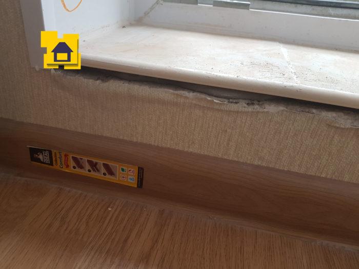 Приёмка квартиры в ЖК : Щель на примыкание балконного порога