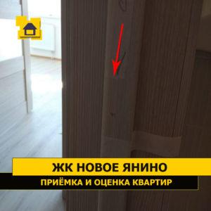 Приёмка квартиры в ЖК Новое Янино: Повреждение ламинации двери