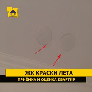 Приёмка квартиры в ЖК Краски Лета: Пятна на потолке ( возле заглушек)