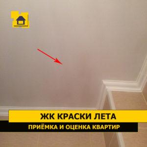 Приёмка квартиры в ЖК Краски Лета: Пятна в сан.узле на потолке