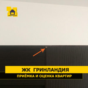 Приёмка квартиры в ЖК Гринландия: Скол ламинации двери