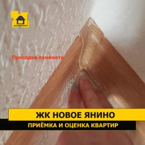 Приёмка квартиры в ЖК Новое Янино: Просадка ламината