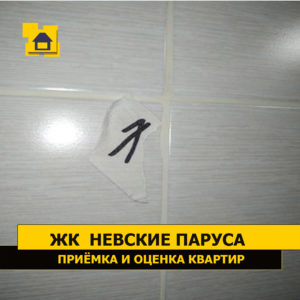Приёмка квартиры в ЖК Невские Паруса: Наплывы затирки