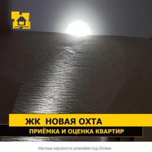 Приёмка квартиры в ЖК Новая Охта: Местные неровности шпаклёвки под обоями