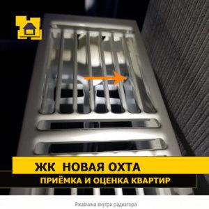 Приёмка квартиры в ЖК Новая Охта: Ржавчина внутри радиатора