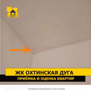 Приёмка квартиры в ЖК Охтинская Дуга: Отслоение штукатурного слоя потолка