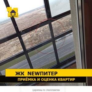 Приёмка квартиры в ЖК NewПитер: Царапины по стеклопакетам