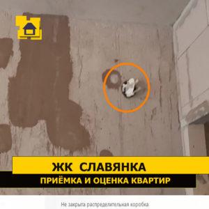 Приёмка квартиры в ЖК Славянка: Не закрыта распределительная коробка