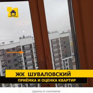 Приёмка квартиры в ЖК Шуваловский: Царапины по стеклопакетам