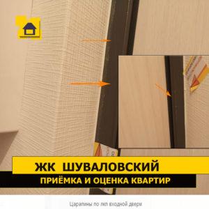 Приёмка квартиры в ЖК Шуваловский: Царапины по лкп входной двери