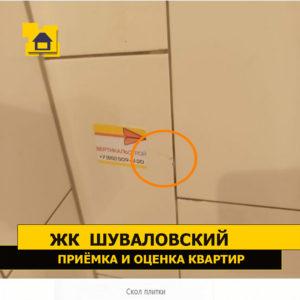 Приёмка квартиры в ЖК Шуваловский: Скол плитки