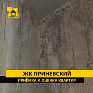 Приёмка квартиры в ЖК Приневский: Подтёки раствора, стена не отшлифована
