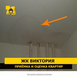 Приёмка квартиры в ЖК Виктория: Была протечка.
