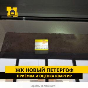 Приёмка квартиры в ЖК Новый Петергоф: Царапины на стеклопакете
